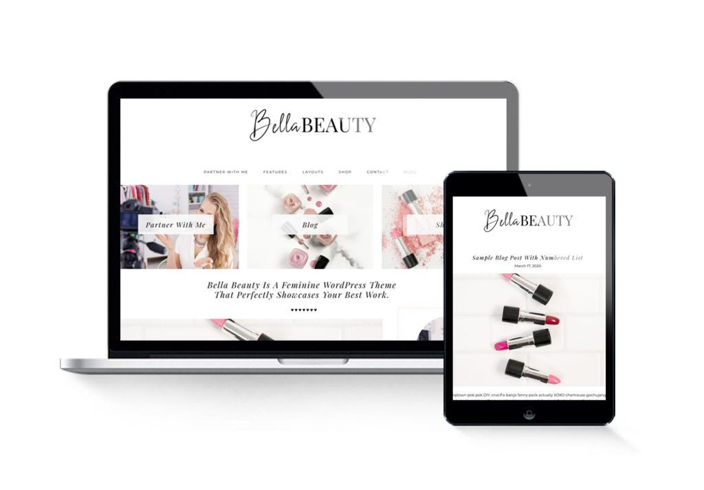 beauty blogger wordpress theme for influencers
